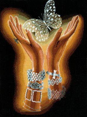 изображение каталога  Набор для вышивания крестом  Хрустальная бабочка, Сделай своими руками, арт. Х-04