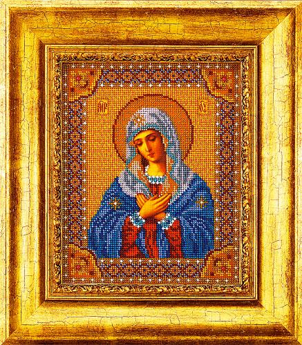 изображение каталога  Набор для вышивания иконы бисером  Умиление Богородица, Кроше (Радуга бисера), арт. В-153