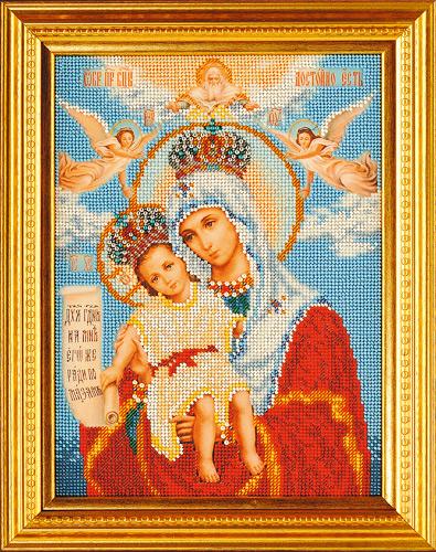 изображение каталога  Набор для вышивания иконы бисером  Богородица Милующая, Кроше (Радуга бисера), арт. В-168