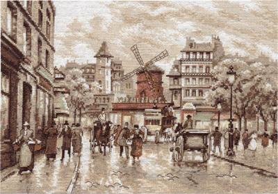 изображение каталога  Набор для вышивания крестом  Париж. Мулен Руж, Panna, арт. ГМ-1255